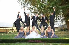 wedding party fun photo