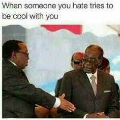 Robert Mugabe refuses to shake hands with Zulu king Mugabe Quotes, Funny Facts, Funny Quotes, Im Weak, Shake Hands, I Love To Laugh, My Attitude, Man Humor, Just For Laughs