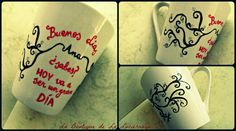 Tazas personalizadas...solo para tí!- Pintadas a mano.Búscanos en Facebook! Awesome handmade painted cups...only for you!Handmade. Join us in Facebook!