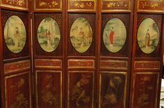 Antique Chinese Wall Wood Screen Divider Mint 19c