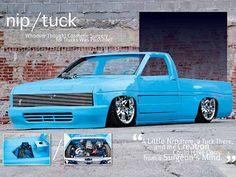 Check out the custom sheetmetal interior of this custom 1988 Nissan Hardbody mini truck in Mini Truckin' Magazine. Small Trucks, Mini Trucks, Cool Trucks, Dropped Trucks, Lowered Trucks, Custom Trucks, Custom Cars, Pick Up, Nissan Hardbody
