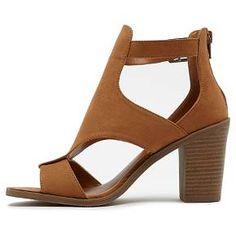 Women's Revel Jaycee Faux Suede Block Heel Sandals - Rust 9 : Target
