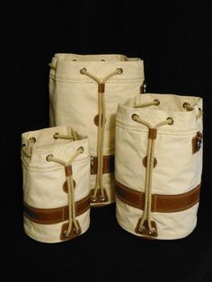 With oil-tanned leather & vintage New England rope, the Windjammer Seabag offers the highest levels of utility & maritime tradition! Built by Morris & Barth USA Sailing Gear, Sailing Outfit, Duffel Bag, Backpack Bags, Monkey Fist Knot, Vintage Suitcases, Cloth Bags, Leather Working, Leather Bag