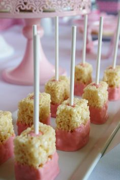 Angelina Ballerina party...like the krispy pops...and so much more.