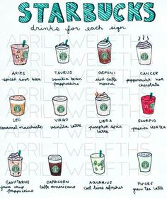 Starbucks Coffee for your sign. Cause I'm a cancer