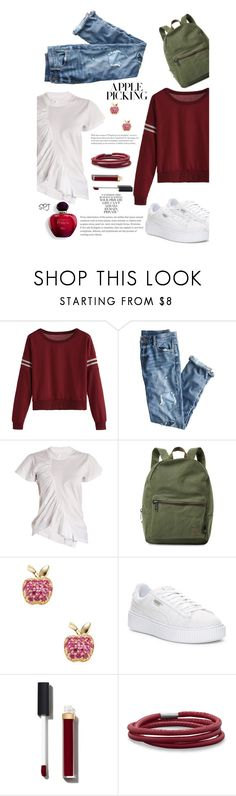 """""""Apple Picking"""" by s-p-j ❤ liked on Polyvore featuring J.Crew, Marques'Almeida, Herschel Supply Co., Sydney Evan, Puma, Chanel and BillyTheTree"""