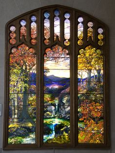 Louis Tiffany window in the Metropolitan Museum of New York. Created 1923-4.
