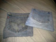 Denim hotmats: add a tea bag or something on the pocket to add a little scent as it warms Warm, Tea, Pocket, Denim, Knitting, Projects, Pants, Fashion, Log Projects