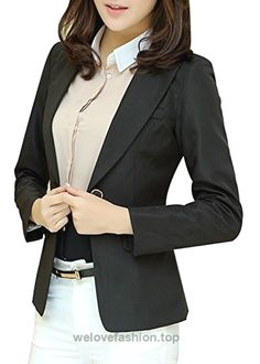 Aro Lora Women's Long Sleeve Slim Fitted Casual Work Plain Suit Jacket Blazer US 4-6 Black  BUY NOW     $29.85    This unique design blazer is slim fitted and it can wear both in formal and casual occasion. It can wear to work or wear to party.S=US 0, M=US 0/2, L=US 4, XL=US 6, X ..