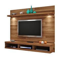 10 Minimalist Rack TV Design Ideas For Your Living Room Tv Rack Design, Tv Cabinet Design, Tv Unit Design, Living Room Tv Unit, Living Room Decor, Rack Tv, Wooden Tv Stands, Tv Stand Designs, Tv Wall Decor