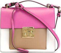 •Website: http://www.cuteandstylishbags.com/portfolio/salvatore-ferragamo-white-pink-brown-marisol-shoulder-bag/ •Bag: Salvatore Ferragamo White Pink Brown 'Marisol' Shoulder Bag