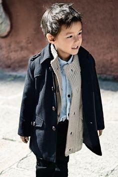 Adorable little boy! Style.