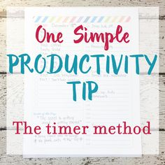 One Simple Productivity Tip: The Timer Method – Limelife Planners