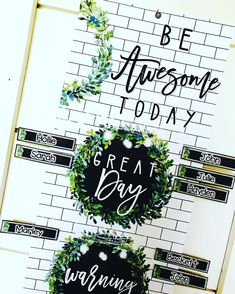 "This behavior clip chart is perfect for keeping your students on task. Students begin each day on ""Good Day"" and clip down for misbehavior. I have included a bonus ""You Rock!"" if you like clipping students up.This classroom decor bundle is full of galvanized metal, subway tiles, chalkboards, string lights, lanterns, and beautiful magnolia wreaths! It is sure to give you the PERFECT ""home away from home."" #HollieGriffithTeaching"