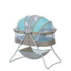 Dream On Me Karley Bassinet - Blue and Grey