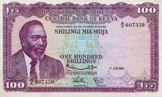 Kenya 100 Shillings 1966.  That was a LOT of money back then!