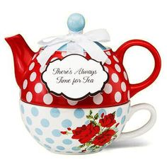 """""""There's Always Time for Tea"""" Tea for One Set"""