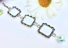 Wedding bouquet charm with 3 linked frames. Bridal bouquet charm with true blue crystal. Bridal shower gift for the bride Wedding Bouquet Charms, Wedding Bouquets, Star Wedding, Wedding Bride, Thoughtful Bridal Shower Gifts, Small Picture Frames, Wedding People, Gifts For Your Sister, Photo Charms