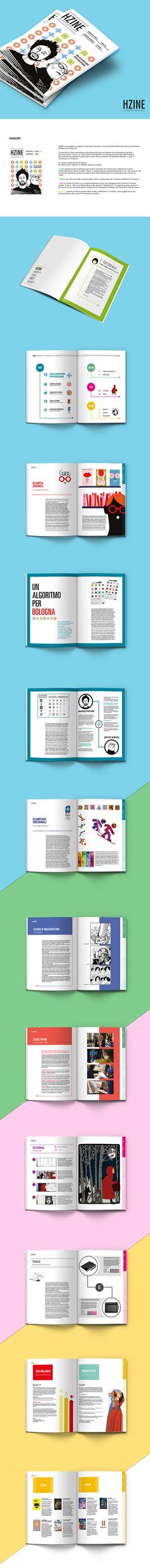 HZINE - magazine - Illustration and Graphic design on Behance