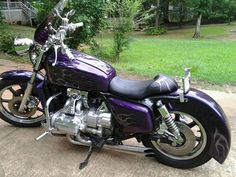 1977 Custom GL1000 Honda Goldwing   My Purple Rain Days!  Love this bike!