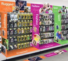 Telecom/mobile accessories planogram and retail environment design.