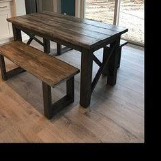 Rustic Wooden Farmhouse Table Set with Provincial Brown Top Barnwood Coffee Table, Rustic Console Tables, Farmhouse Kitchen Tables, Moving Furniture, Table Furniture, Patio Table, Dining Room Table, Rustic Farmhouse Table, High Top Tables