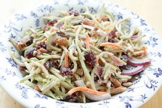 Sweet and Tangy Broccoli Slaw - get the recipe at barefeetinthekitchen.com