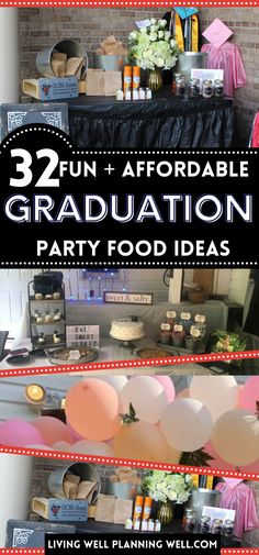 Looking for the best graduation party food ideas for your high school or college graduation party? These graduation party food ideas are fun and affordable and will feed a crowd. Graduation Party Desserts, Outdoor Graduation Parties, Graduation Party Planning, Graduation Party Themes, College Graduation, Party Food On A Budget, Party Food Buffet, Theme Ideas, Party Ideas