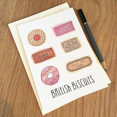 British Biscuits - now available as a postcard!