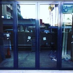 Beautiful! Call 760-722-1300 for your instant quote today! #panoramicdoors #foldingdoors #homeimprovement #architecturelovers #aluminum #exteriors #doors #remodel #exteriordoors #patios #interiors #exteriordesign