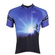 PALADIN Men's Breathable Short Sleeve Mountain Bike Cycling Jersey [Sz S-3XL]