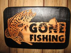Woodworking Scroll Saw Patterns Free | Gone Fishin Scroll Saw Cut Sign Pictures