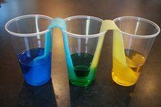 Preschool science - color mixing water