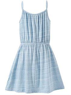 Amazon.com: Bonny Billy Big Girls Spaghetti Straps Solid Cotton Kid Beach Dress: Clothing