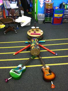 "We sing the song ""Aiken Drum,"" but instead of making him out of food, we make him out of instruments! Students love getting to explore all the instruments. #WestMusic #InspireMyClass"