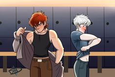 When the class nerd you've been crushing on can literally crush you It seems I enjoy drawing hijack fanservice Locker Room Disney Pixar, Heros Disney, Disney And Dreamworks, Cartoon As Anime, Anime Comics, Hiccup Jack, Dark Jack Frost, Jake Frost, Harry Potter Disney
