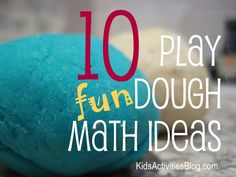 Great ideas on ways for our kids to learn/practice math concepts - through play!