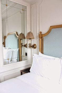 Bedroom Wall Molding Ideas: Home Bedroom, Bedroom Decor French Headboard, Interior, Home, Home Bedroom, Bedroom Design, House Interior, Bedroom Inspirations, Parisian Bedroom, Interior Design