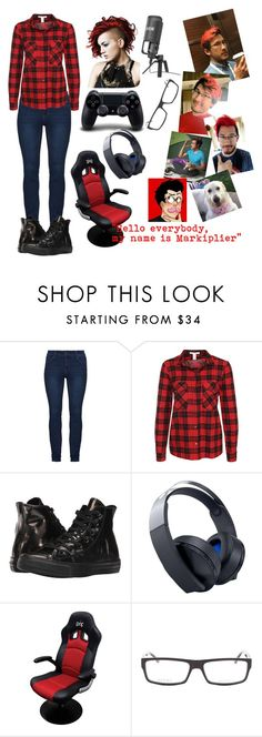 """""""Female Markiplier (ver.1)"""" by animekitten101 ❤ liked on Polyvore featuring beauty, NLY Trend, Converse and Gucci"""