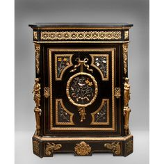 Napoleon III Bronze Mounted Ebonized Cabinet Signed Jeune Befort from Pia's Antique Gallery Exclusively on Ruby Lane