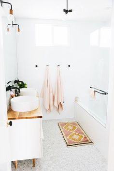 Bright and bold bathroom