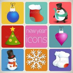 New Year Icons with chines icons will be great