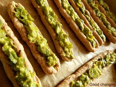 Yeast fingers with broad beans and goat cheese