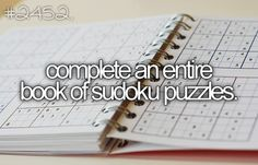 Did this multiple times! Love Sudoku!