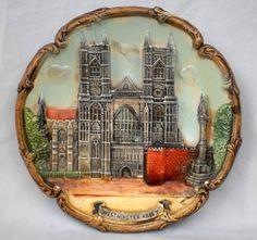 COLLECTABLE VINTAGE Ca 1950 s ARTWARE  Bristol  3D WESTMINSTER ABBEY WALL PLAQUE