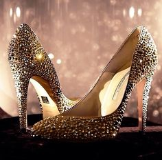 These always shine one of a kind Swarovski crystal covered pumps are amazing