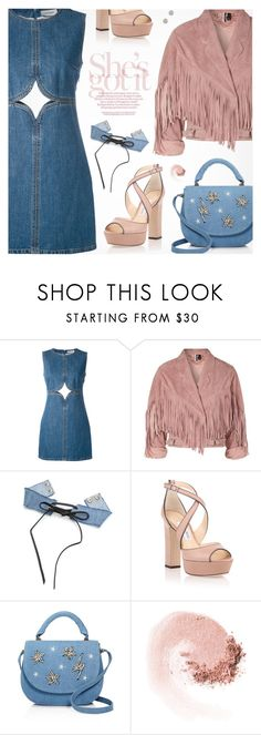 """She's Got It"" by pokadoll ❤ liked on Polyvore featuring Courrèges, Topshop, Jimmy Choo, Studio 33, NARS Cosmetics, Marc Jacobs, polyvoreeditorial and polyvoreset"