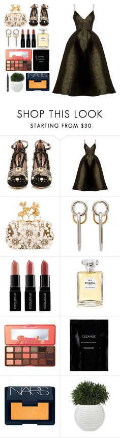 """""""5.819"""" by katrinattack ❤ liked on Polyvore featuring Gucci, Alex Perry, Alexander McQueen, Alexander Wang, Smashbox, Chanel, Too Faced Cosmetics, Cleanse by Lauren Napier, NARS Cosmetics and party"""