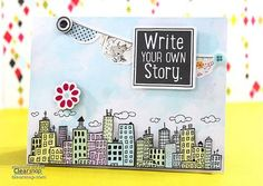 Here's a simple and quick card by Meihsia Liu featuring ColorBox® Creative Cards and ColorBox® Spritzers! Click on the image for the instructions. | Clearsnap Blog