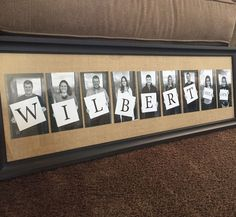 40th Anniversary Gift for Parents. Kids and Grandkids photo gift. Tip: take photos holding only a white canvas/board. Letters can be added later in Photoshop! Saves time and money making each sign. #ParentingAnniversary